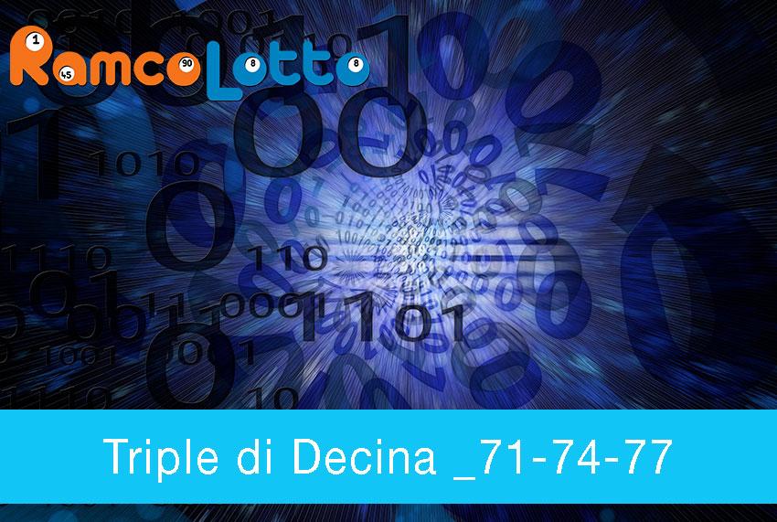 Triple di Decina _71-74-77